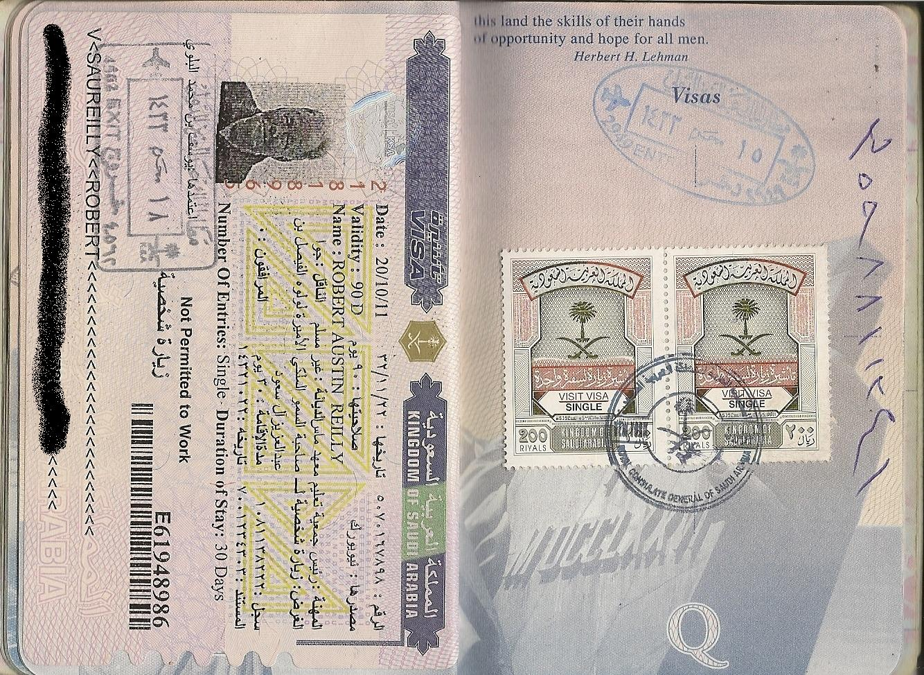 Rob Reilly's pport pages on visa credit card application form, china visa application form, vietnam visa application form,
